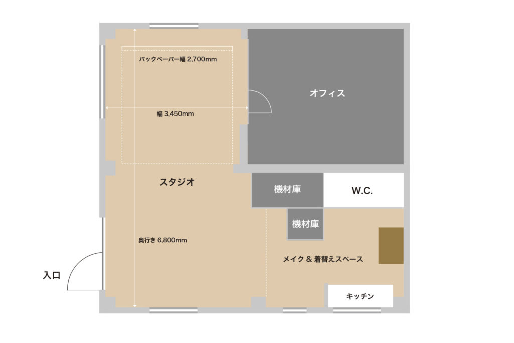 座間スタジオ平面図